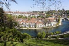 Город Bern увиденный издалека Стоковые Фото