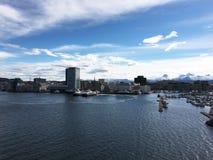 Город Bodø, Nordland, Норвегия Стоковое Изображение RF