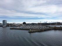 Город Bodø, Nordland, Норвегия Стоковые Изображения RF