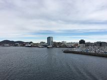 Город Bodø, Nordland, Норвегия Стоковая Фотография RF