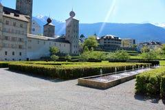 Город Briga в Швейцарии Стоковое Фото