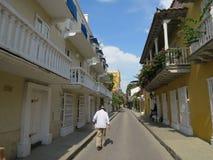 Город Cartagena de Indias старый Стоковое Изображение RF