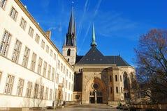Город Cathedrale Нотр-Дам Люксембурга Стоковые Изображения