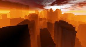 город cg Стоковое фото RF