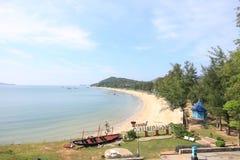 Город chumporn hatsairee пляжа в Таиланде стоковое фото