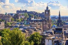 Город Edingurgh на холме Calton, Шотландии Стоковое Изображение RF