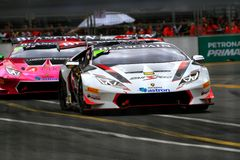 Город Grand Prix Lamborghini супер Trofeo KL Стоковые Изображения RF