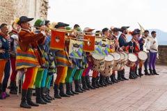 Город gubbio Умбрии Италии Стоковая Фотография