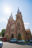 Город HOJIMIN, Вьетнам 17-ое марта:: красивая церковь, cath Нотр-Дам Стоковые Фотографии RF