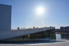 Город House_Oslo оперы Осло Стоковые Фотографии RF