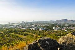 Город Hua Hin ландшафта в утре Стоковые Изображения RF