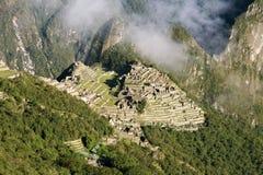 Город Incas Machu Pichu в Cusco, Перу Стоковое фото RF
