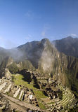 Город Incas Machu Pichu в Cusco, Перу Стоковые Фото