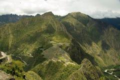 Город Incas Machu Pichu в Cusco, Перу Стоковая Фотография