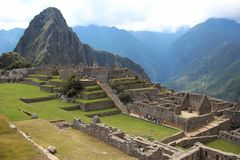 Город Inca Machu Picchu Стоковые Фотографии RF