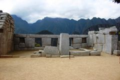 Город Inca Machu Picchu Стоковое Изображение RF