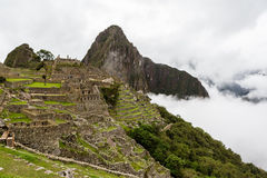 Город Inca Machu Picchu Стоковое фото RF