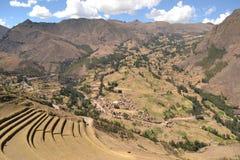 Город Inca Pisac Стоковые Фотографии RF