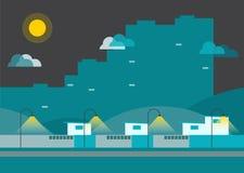 Город Infographic городка Стоковое Изображение RF
