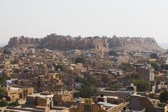Город Jaisalmer в положении Раджастхана, Индии Стоковое Изображение