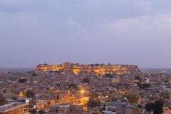 Город Jaisalmer в положении Раджастхана, Индии Стоковые Фото