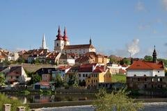Город Kadaň, чехия стоковое фото
