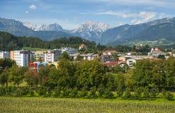 Город Kamnik, Словения Стоковое Изображение RF
