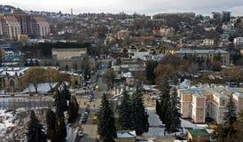 Город Kislovodsk - самый старый и самый большой курорт в России Стоковые Изображения RF