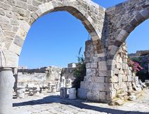 Город Kos, историческое здание в острове Kos, городе Kos Стоковое Изображение