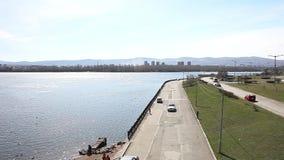 Город Krasnoyarsk портового района акции видеоматериалы