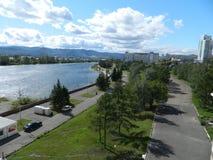 Город Krasnoyarsk Стоковое Изображение RF