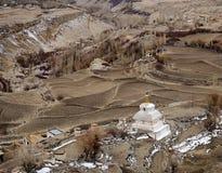 Город Leh и гора, Leh Ladakh, Индия Стоковое Изображение