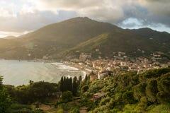 Город Levanto стоковая фотография