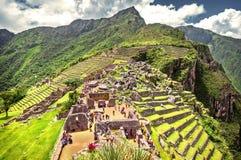 Город Machu Picchu Inca (Перу) Стоковое Изображение