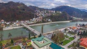Город Maglaj в центральной Боснии Стоковое Фото