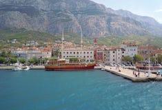 Город Makarska, Хорватия Стоковые Фото