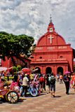 Город Mallaca исторический стоковые изображения