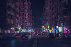 Город Mansoura & x28; Gala& x27; st & x29; стоковое фото