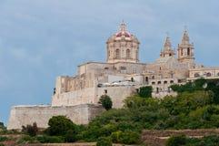 Город Mdina Мальты исторический Стоковая Фотография RF