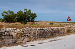 Город Mdina Мальты исторический Стоковые Изображения RF