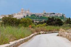 Город Mdina Мальты исторический Стоковые Изображения