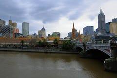 город melbourne Австралии Стоковое Изображение