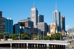 город melbourne victoria Австралии Стоковое Фото