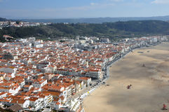 Город Nazare, Португалия Стоковое фото RF