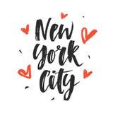 город New York Современная рука написанная литерность щетки Стоковые Фото