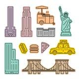 город New York иллюстрация штока