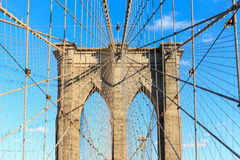 город New York brooklyn моста Стоковое Фото