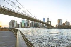 город New York brooklyn моста Стоковое Изображение RF