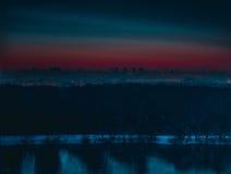 Город Nigthly Стоковые Изображения RF