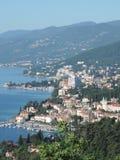 Город Opatija, около города Риеки, Хорватия стоковое фото
